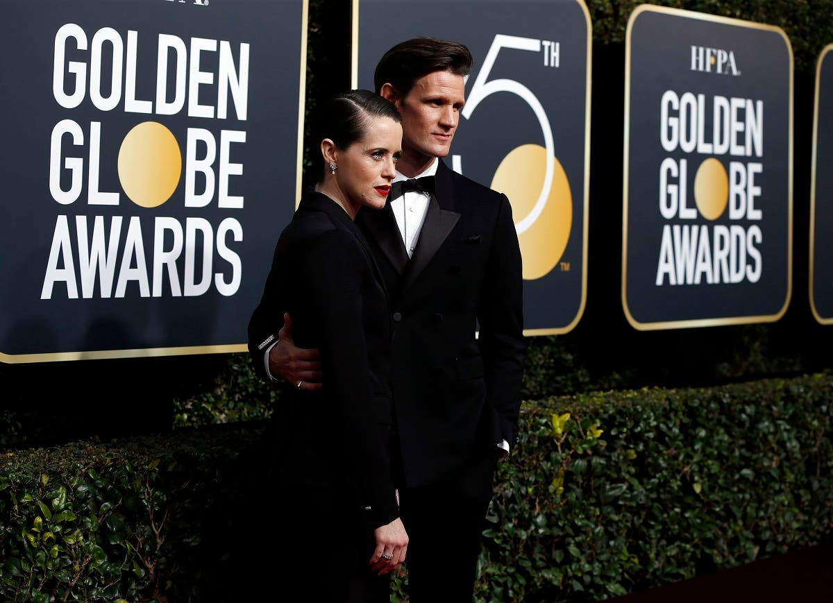 Claire Foy, Matt Smith at the Golden Globes Awards red carpet. (Reuters)
