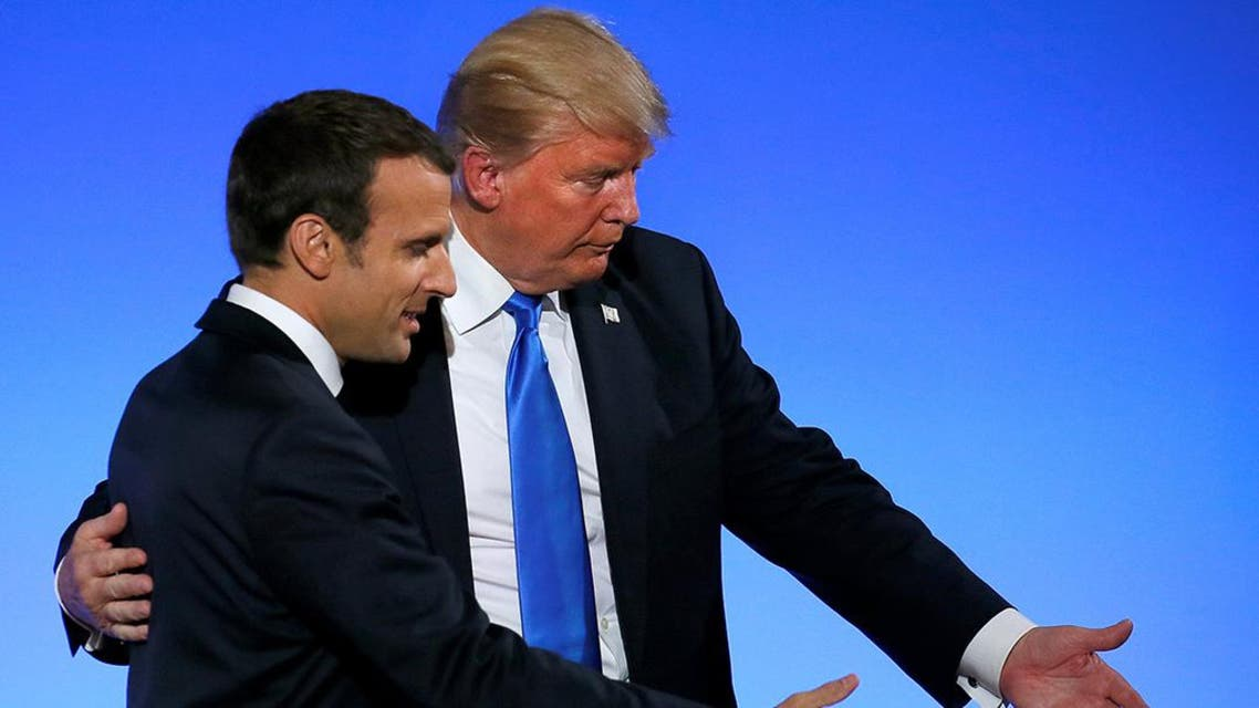 Trump provided Macron with an update on developments on the Korean Peninsula and the two discussed demonstrations in Iran. (File photo: Reuters)