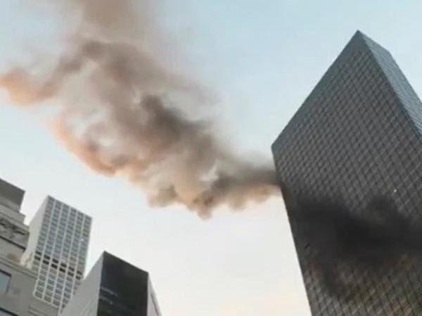 فيديو.. حريق ينشب في برج ترمب بوسط مانهاتن