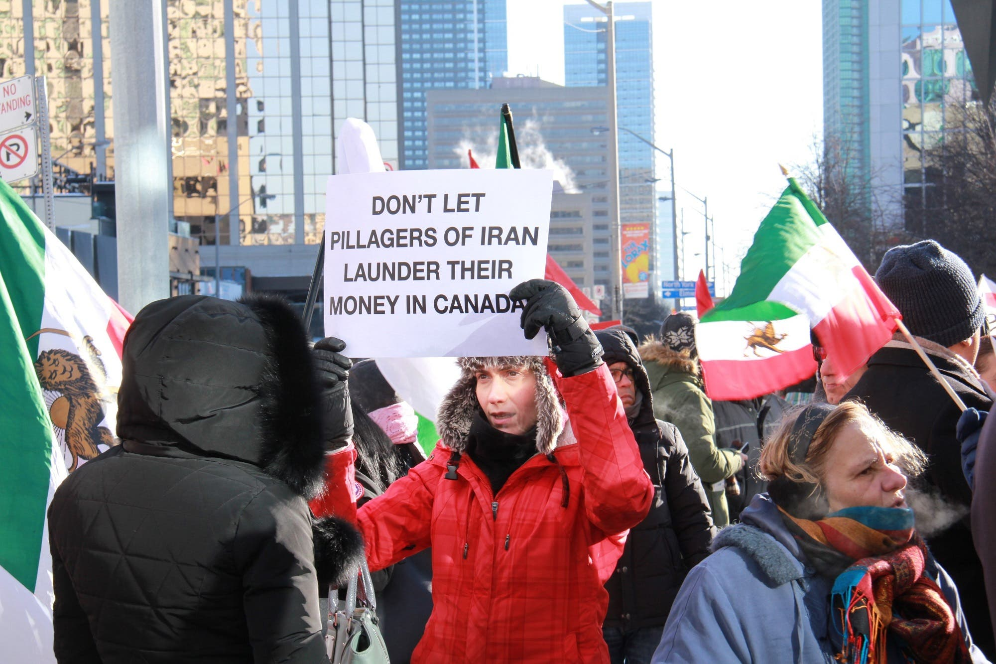 Many protesters proudly carried the old Iranian flags, reflecting nostalgia for a more secular era. (Supplied)