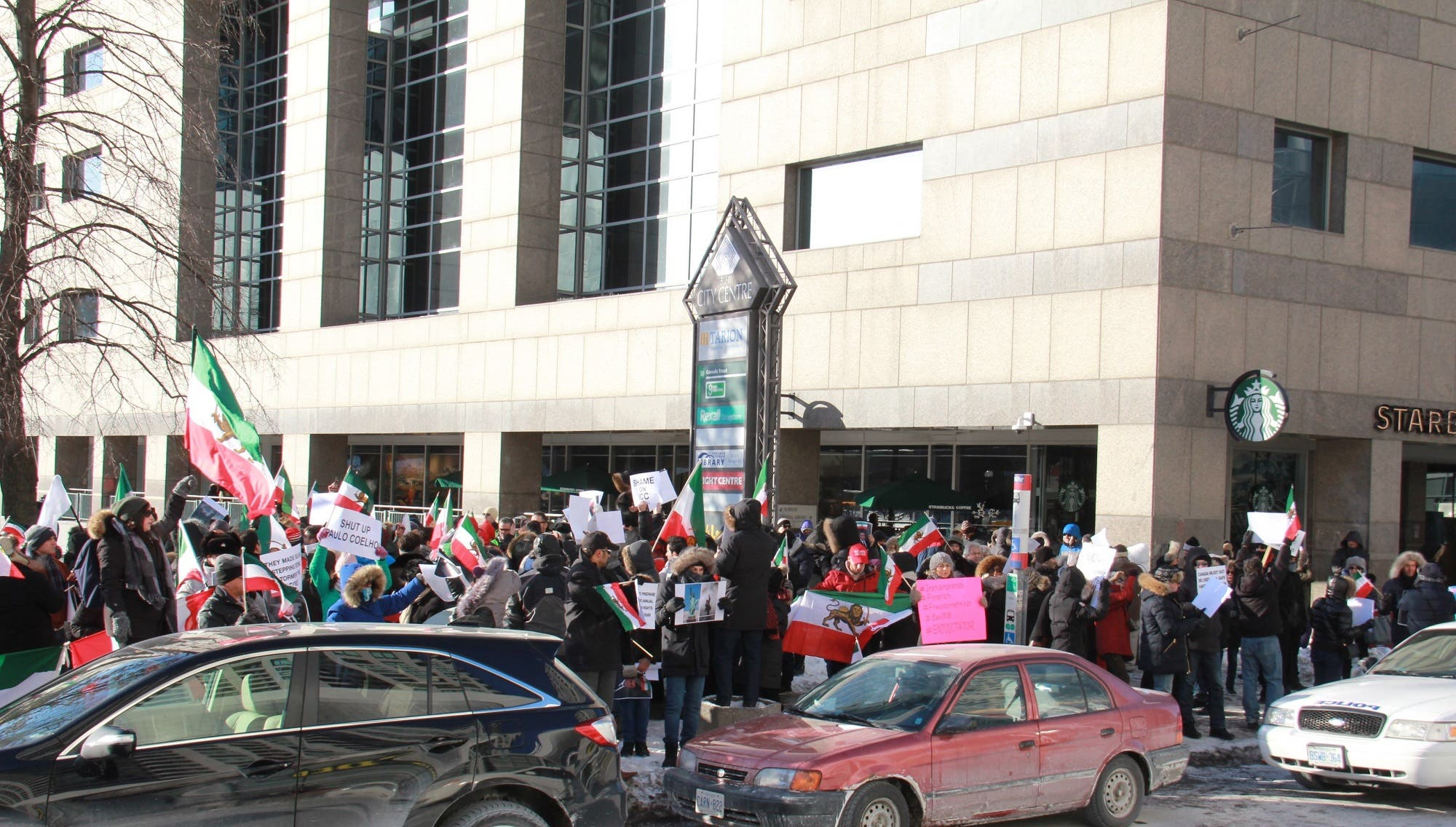 """Speakers and protesters at the rally expressed their support to their """"courageous"""" brethren in Iran. (Supplied)"""
