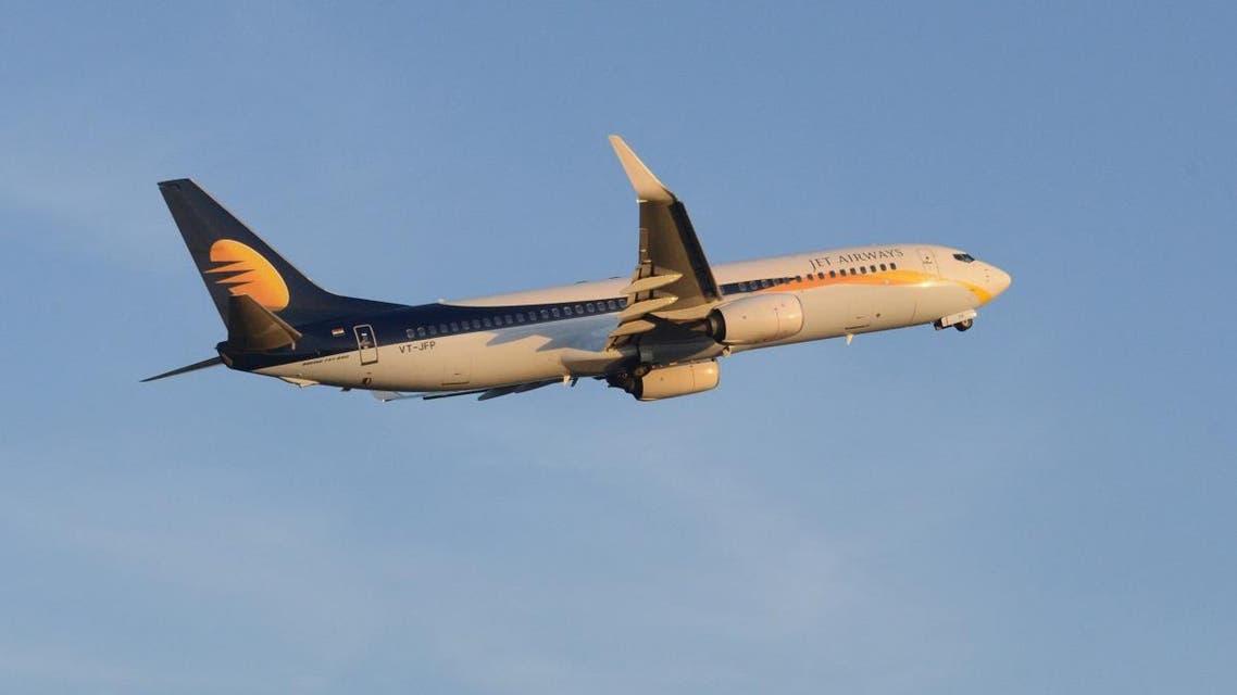 A Jet Airways flight takes off from Sardar Vallabhbhai Patel International Air Port in Ahmedabad. (AFP)