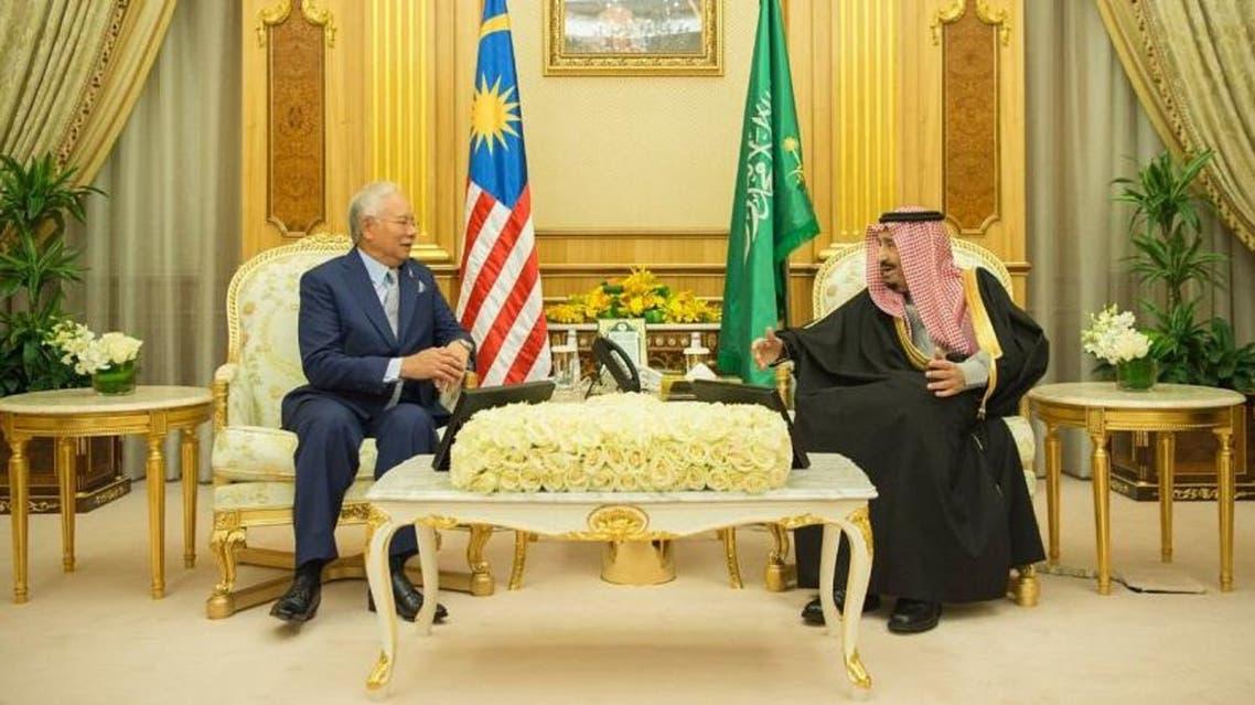 الملك سلمان ورئيس وزراء ماليزيا 3