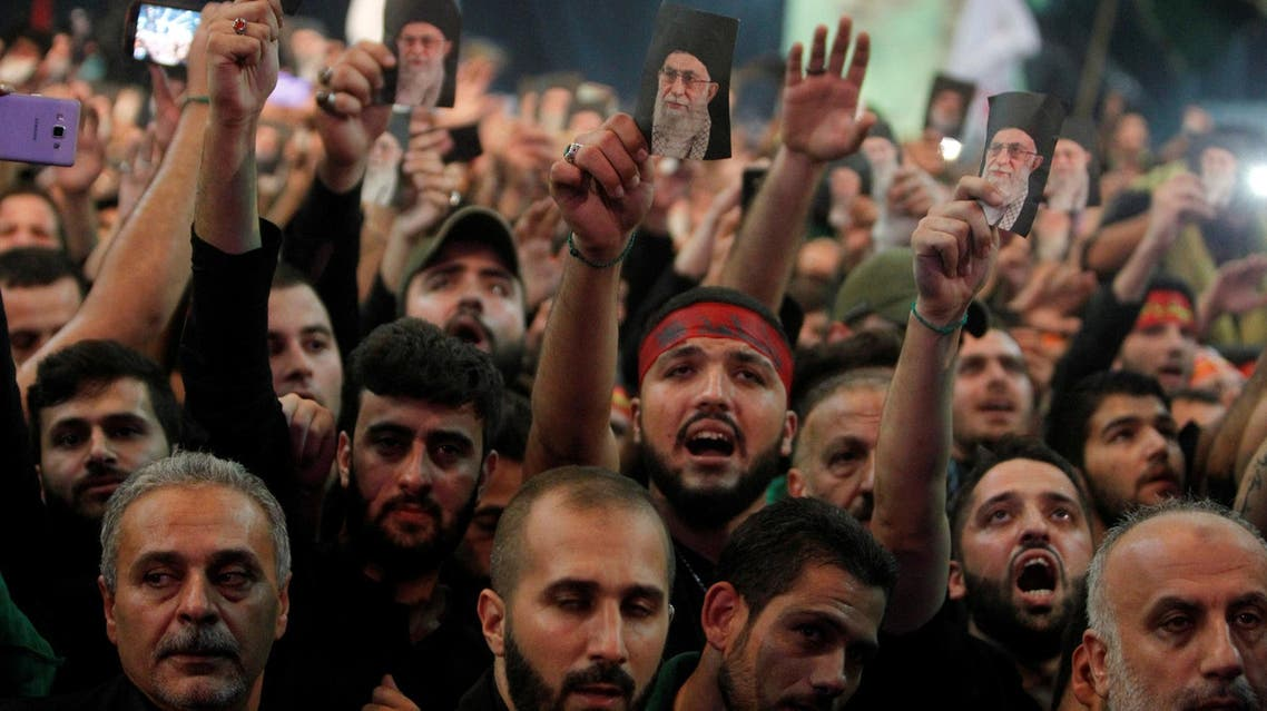 Supporters of Lebanon's Hezbollah leader Sayyed Hassan Nasrallah during a public appearance by Nasrallah in Beirut on October 11, 2016. (Reuters)