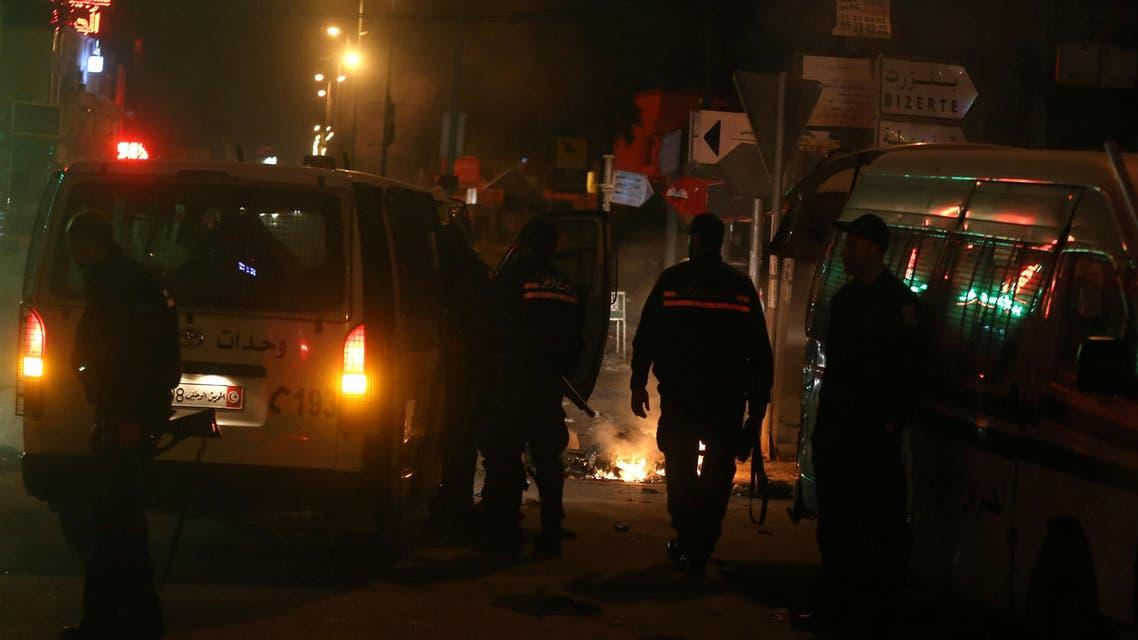 جانب من الاأحداث في تونس - احتجاجات تونس 3