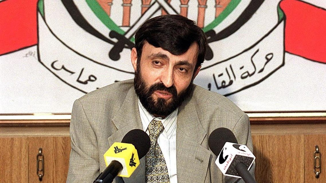 Imad al-Alami, talks to journalists at a press conference held in the southern suburbs of Beirut 23 September 1999. (AFP)