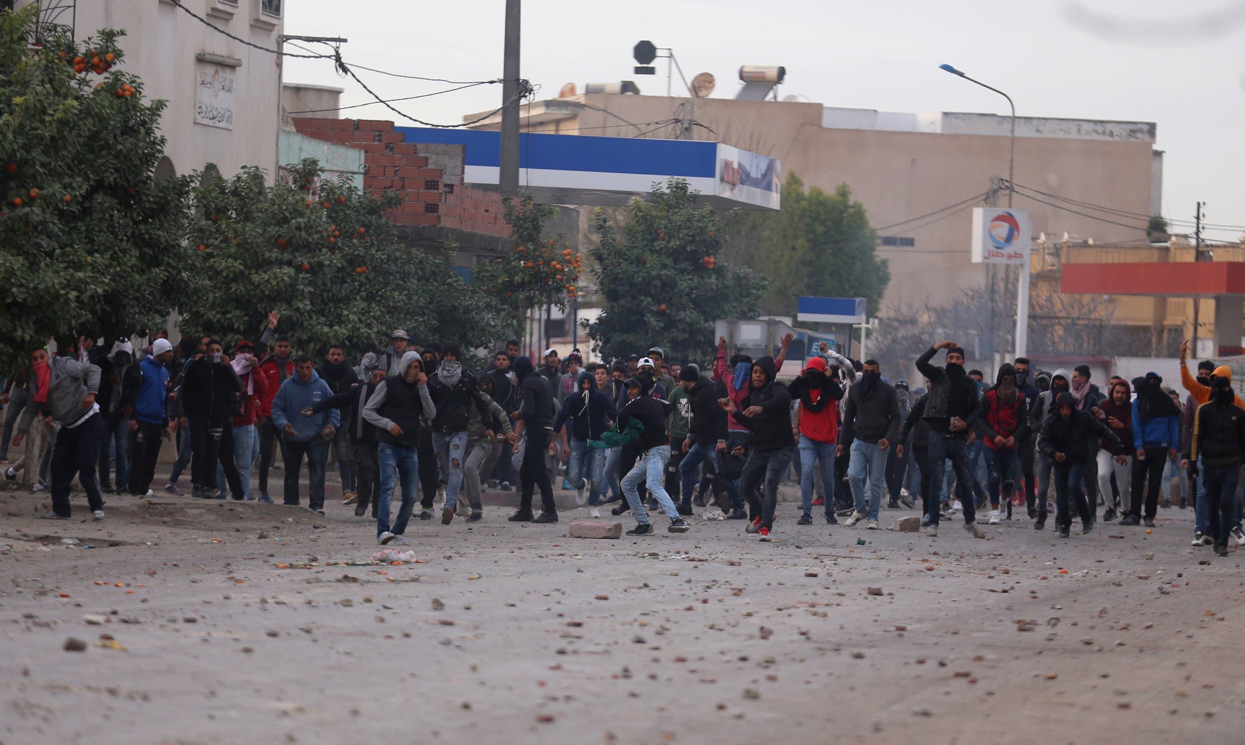 جانب من الأحداث في تونس