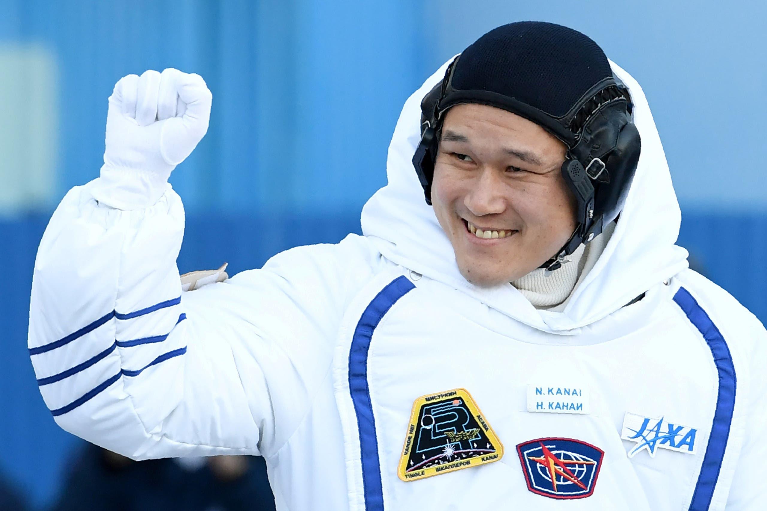 الرائد الياباني قبل انطلاقه للمحطة الدولية