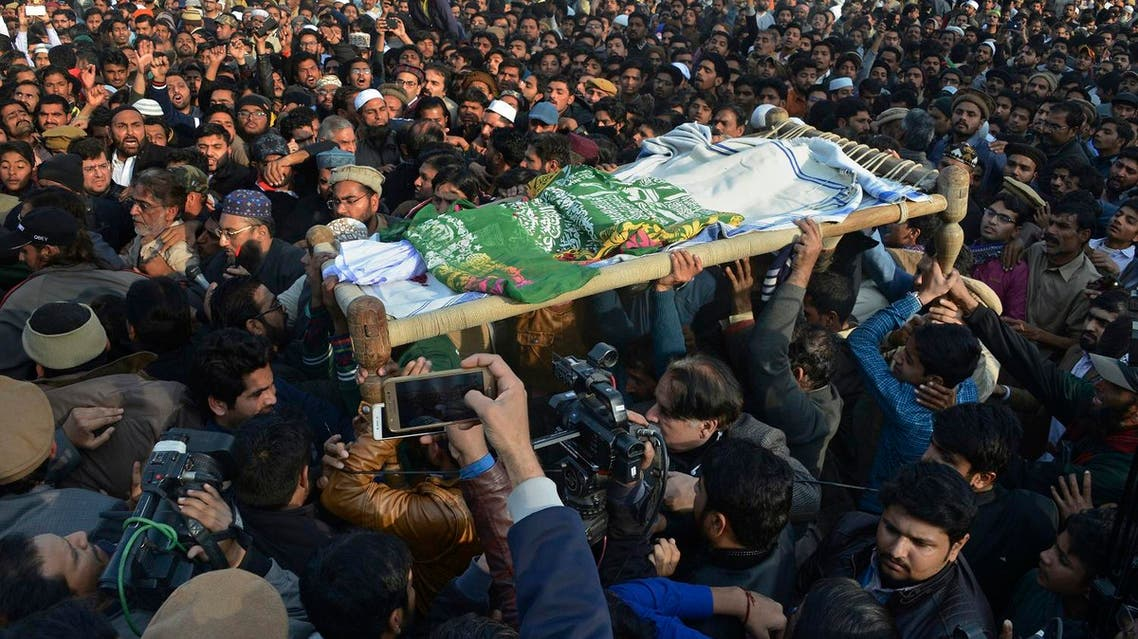 People attend a funeral of a Pakistani girl who was raped and killed, in Kasur, Pakistan, Wednesday, Jan. 10, 2018. (AP)