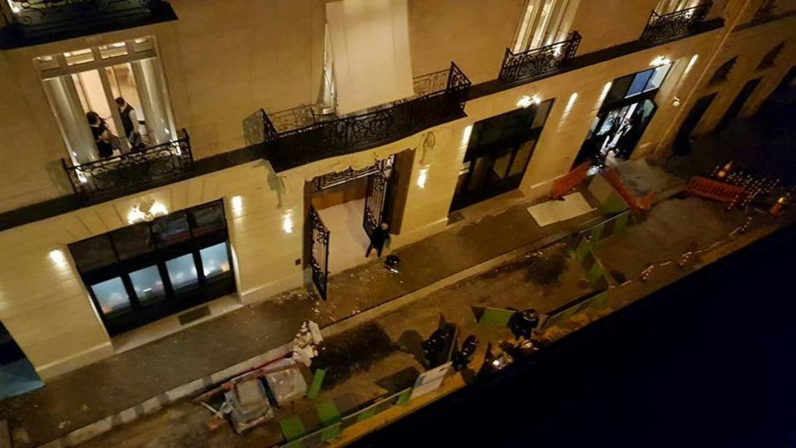This picture obtained from social media shows a view of the scene after the robbery in the Ritz Paris hotel on January 10, 2018 in (Reuters)