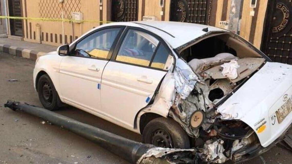 شظايا الصاروخ الذي أطلقه الحوثيون على نجران الجمعة الماضية