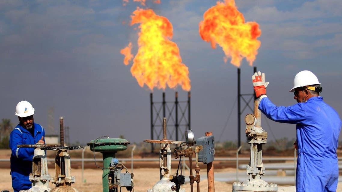 This December 14, 2017 photo shows the Bin Omar natural gas facility, part of the Basra Gas Company, north of Basra. (AFP)
