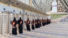 شاهد.. دخول النساء لأول مرة ملاعب السعودية
