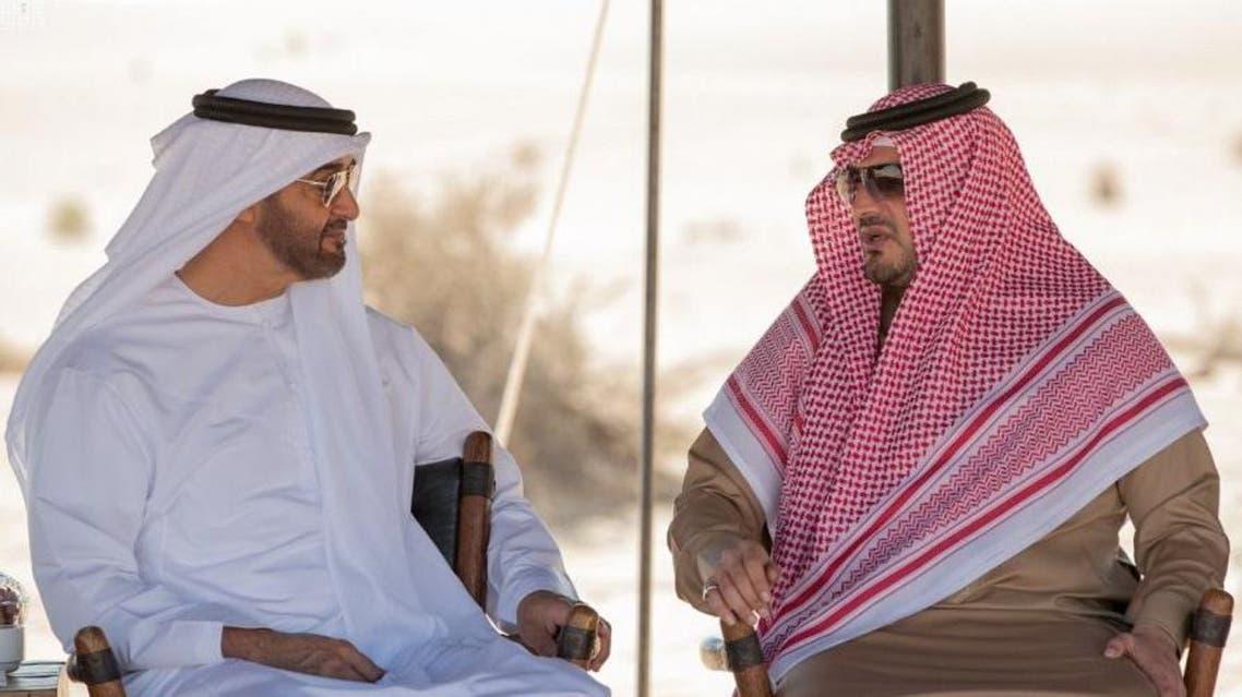 ولي عهد أبوظبي يستقبل وزير الداخلية السعودي