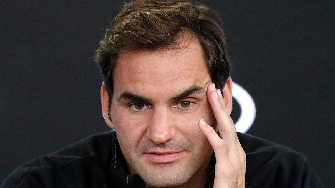 Swiss tennis player Roger Federer speaks at a press conference in Melbourne on Sunday. (Reuters)