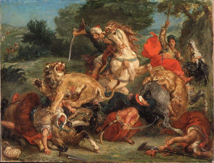 لوحة «صيد الأسود» (1855م)