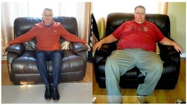 أشبه بالمعجزة.. كيف فقد هذا الرجل نصف وزنه بفترة وجيزة؟
