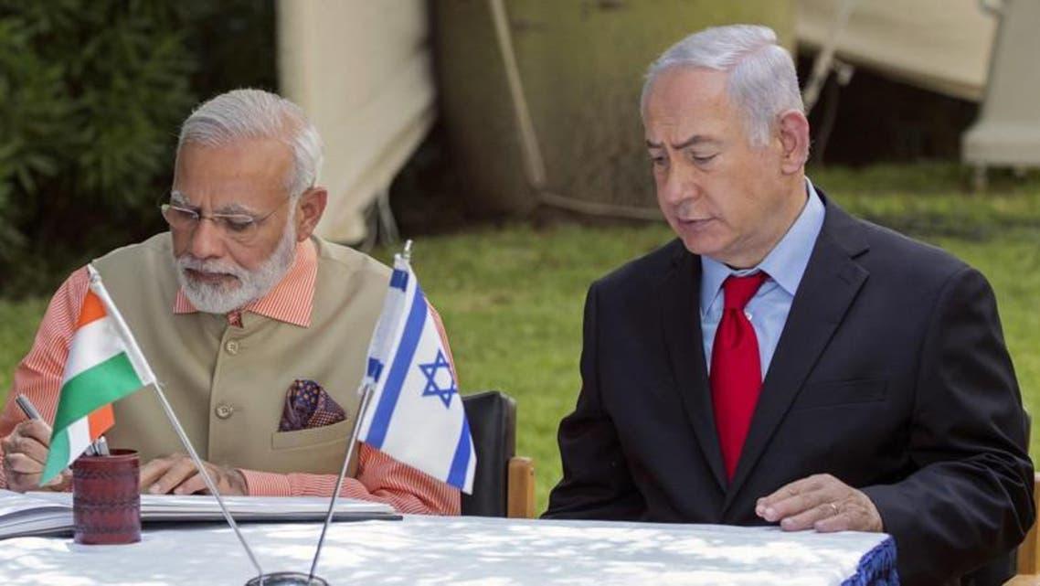 Israeli PM With Indian PM Modi