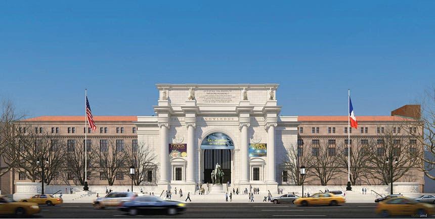 واجهة المتحف الأمامية ومدخله