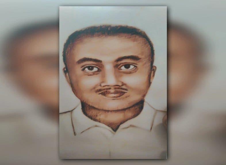 رسم سابق مغاير للقاتل أطلقته الشرطة عقب اكتشاف الجثة مباشرة