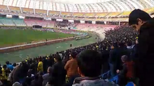 Fans chant 'death to the dictator' in Iran's Naghsh-e Jahan Stadium