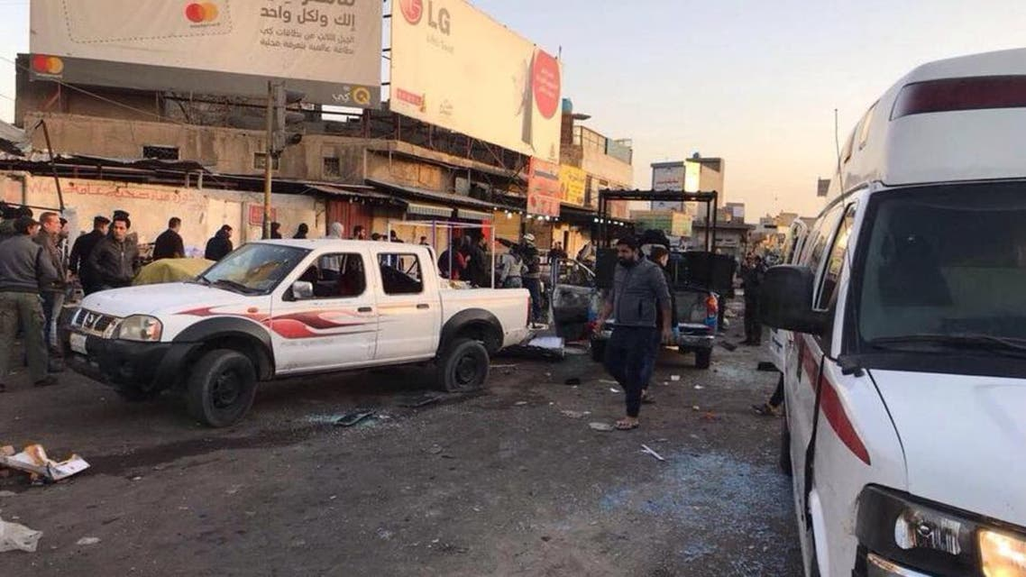 16 قتيلاً في هجوم انتحاري مزدوج وسط بغداد