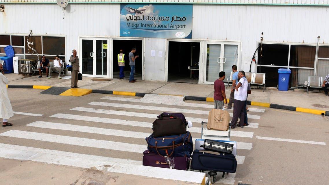 Mitiga airport Libya. (Reuters)
