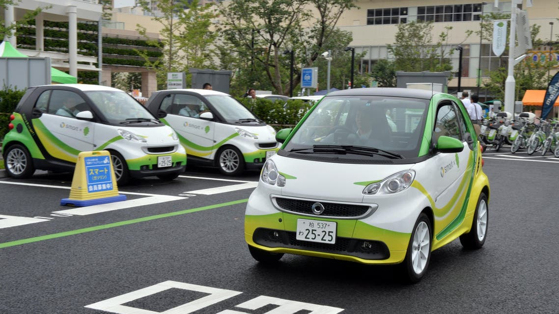 SEC will cooperate with the 3 Japanese companies to study operation of electric cars in the Kingdom. (AFP)