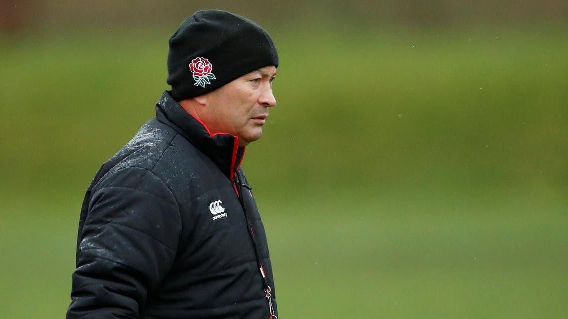 England head coach Eddie Jones during training. (Reuters)