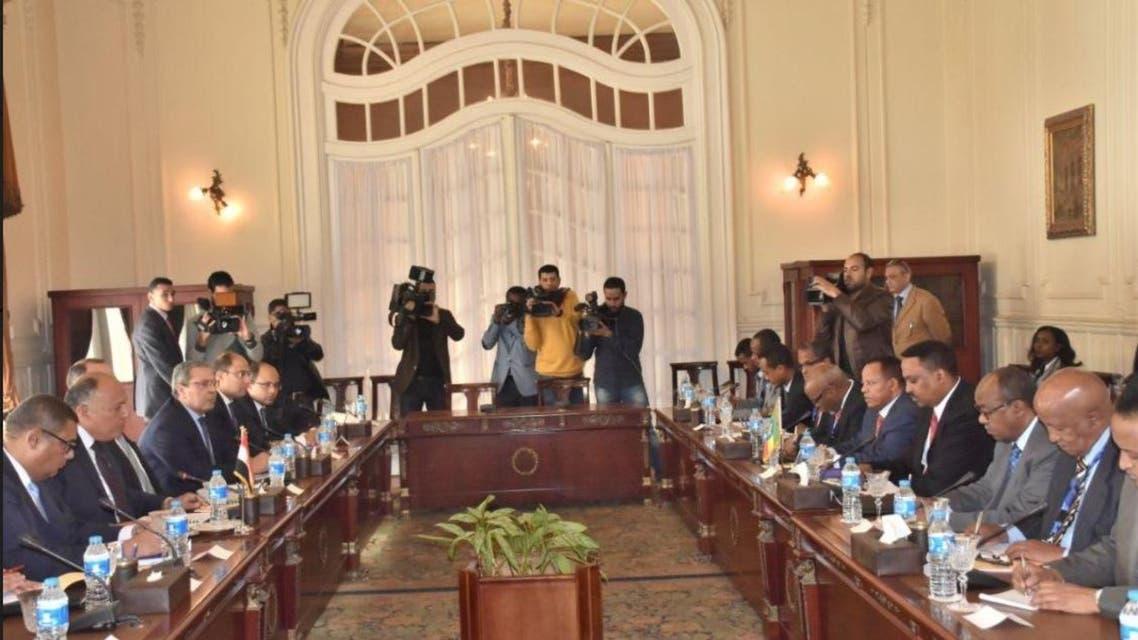 وزيرا خارجية مصر وإثيوبيا يبحثان أزمة سد النهضة