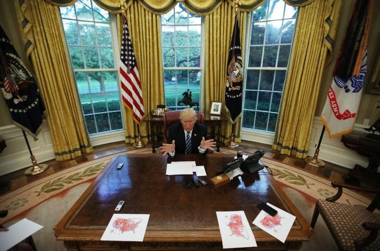 US President Donald Trump's first year in office