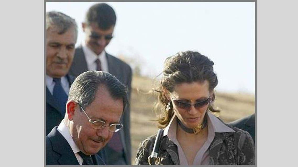 أسماء الأسد ووالدها فواز الأخرس