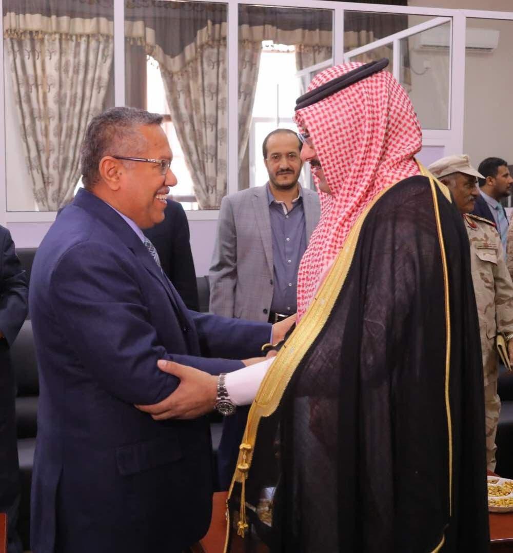 رئيس الوزراء اليمني يستقبل السفير السعودي في عدن