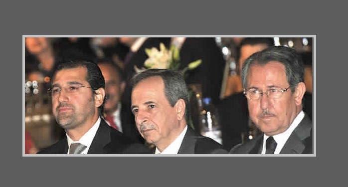 الأخرس وقريب الأسد رامي مخلوف المدرج على لوائح عقوبات أوروبية وأميركية لتورطه بالفساد وتسليح ميليشيات