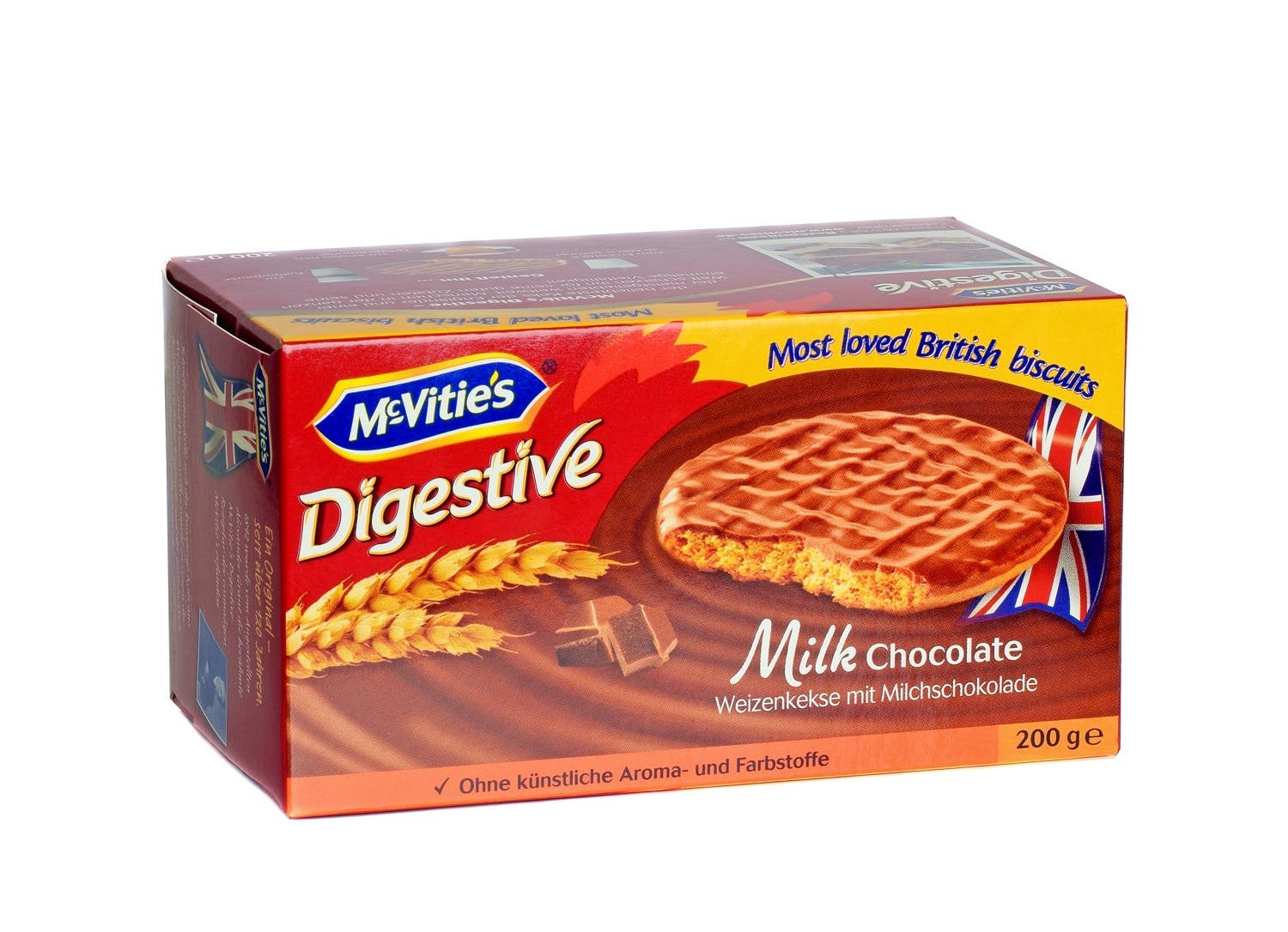 A box of McVities milk chocolate digestive biscuits. (Shutterstock)