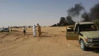 سيارة للعصابات تم استهدافها وتدميرها