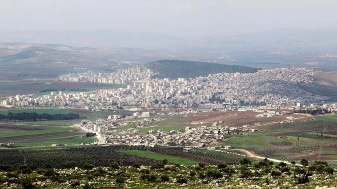 صورة عامة لبلدة عفرين ومناطق محيطة بها في سوريا