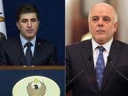 العبادي يلتقي بارزاني لبحث حل الأزمة بين بغداد وأربيل
