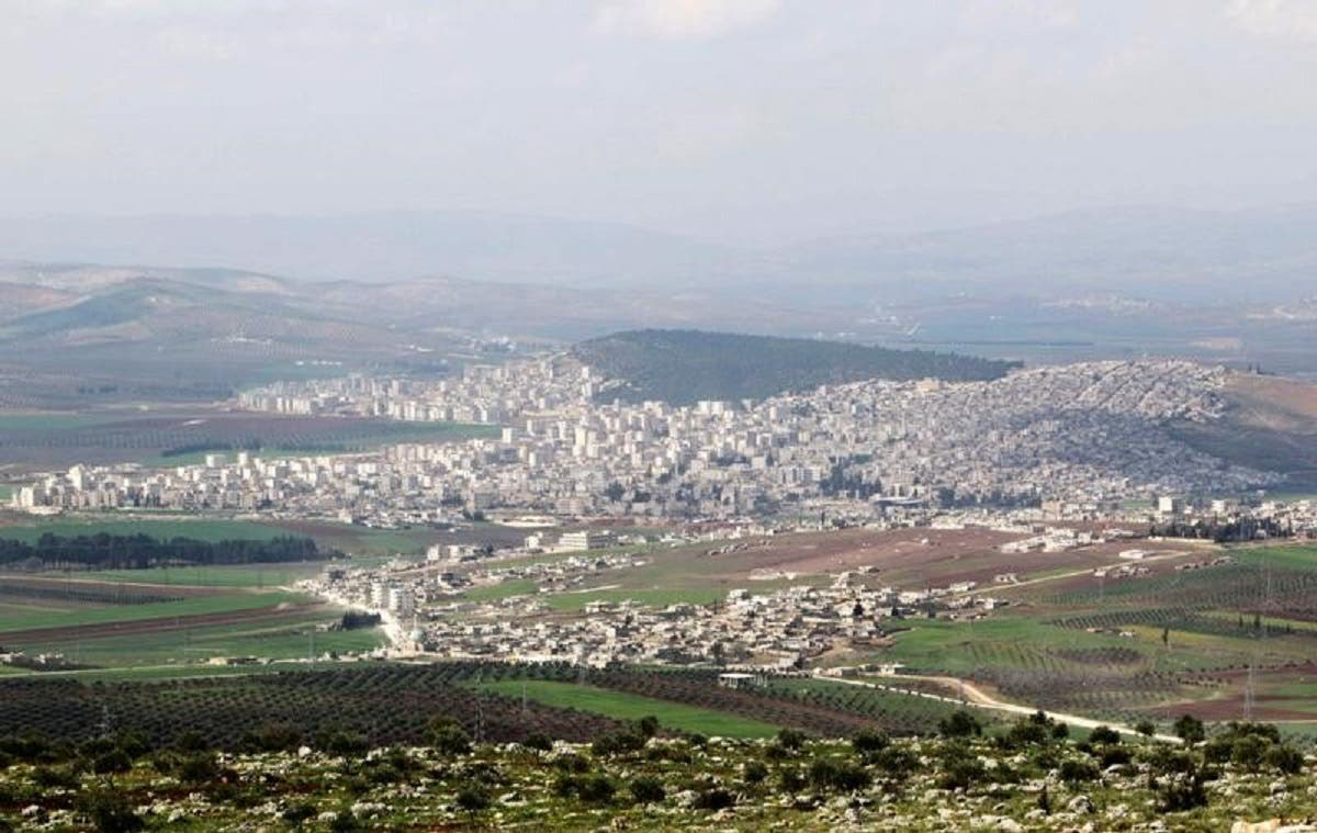 A general picture of the town of Afrin and surrounding areas in Syria. (Reuters)