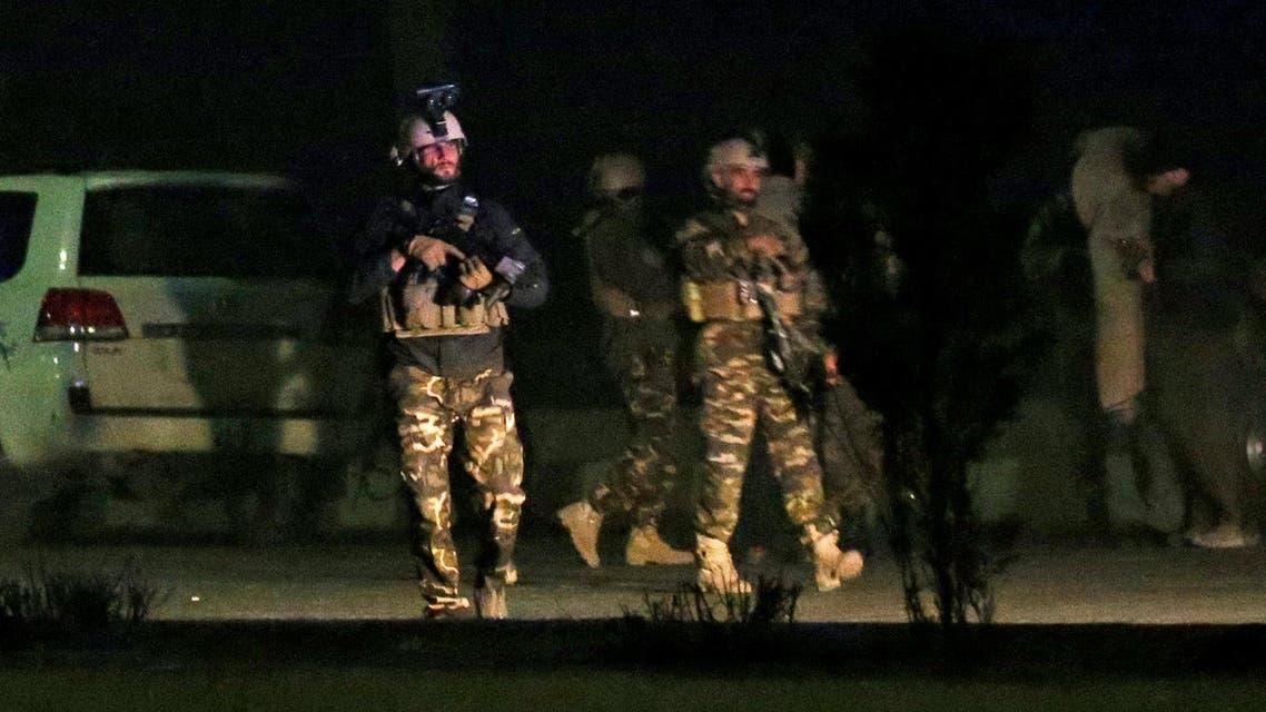 القوات الأفغانية بموقع الهجوم