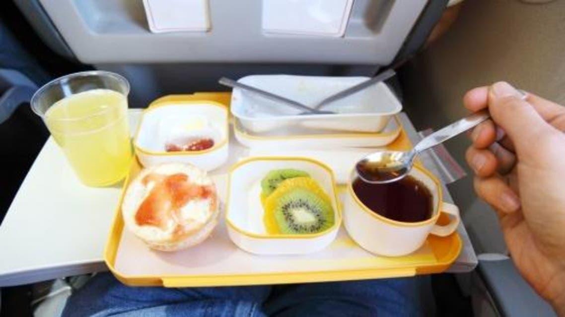 الطعام على متن الطائرة