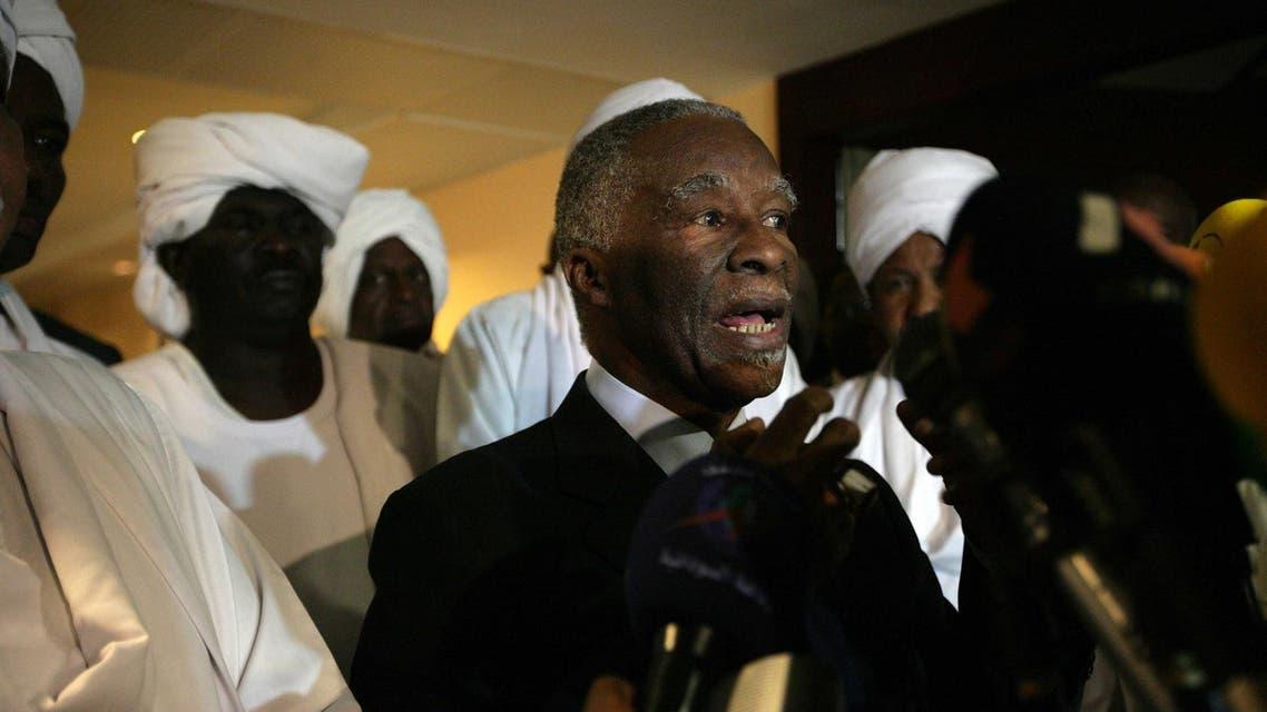 Thabo Mbeki Sudan 2014 File Photo AFP