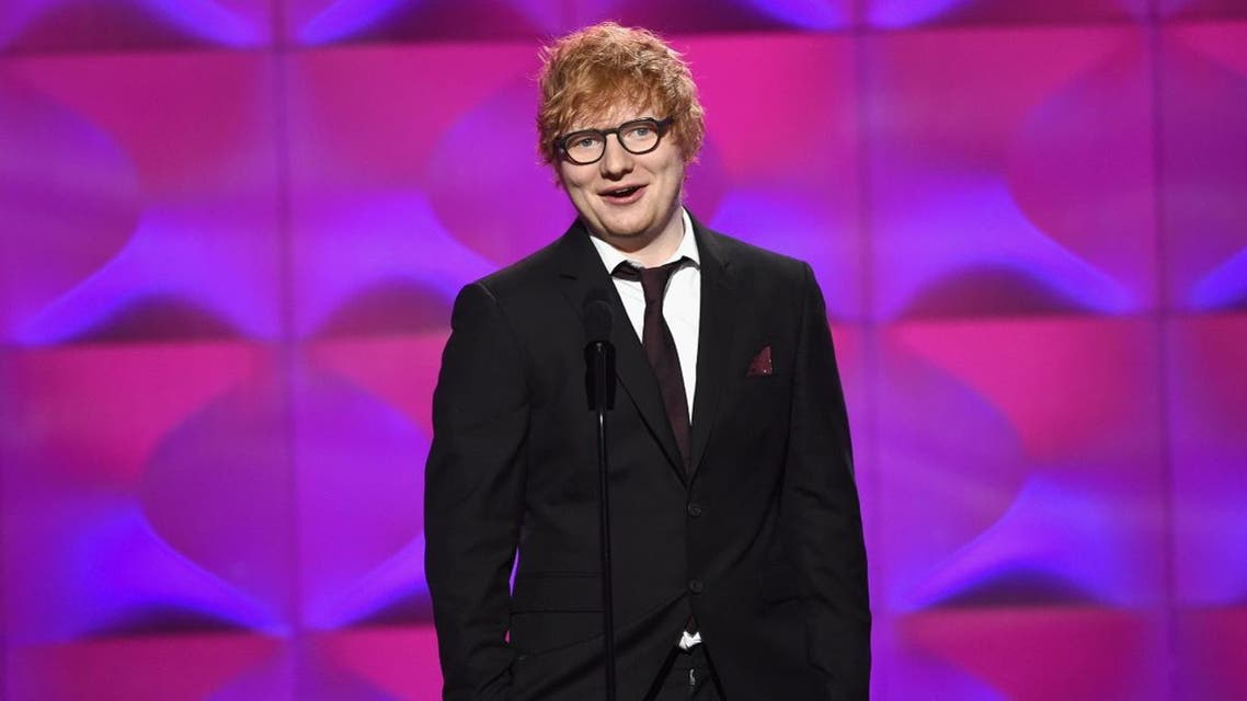 Ed Sheeran speaks onstage at Billboard Women In Music 2017 at The Ray Dolby Ballroom at Hollywood & Highland Center. (AFP)