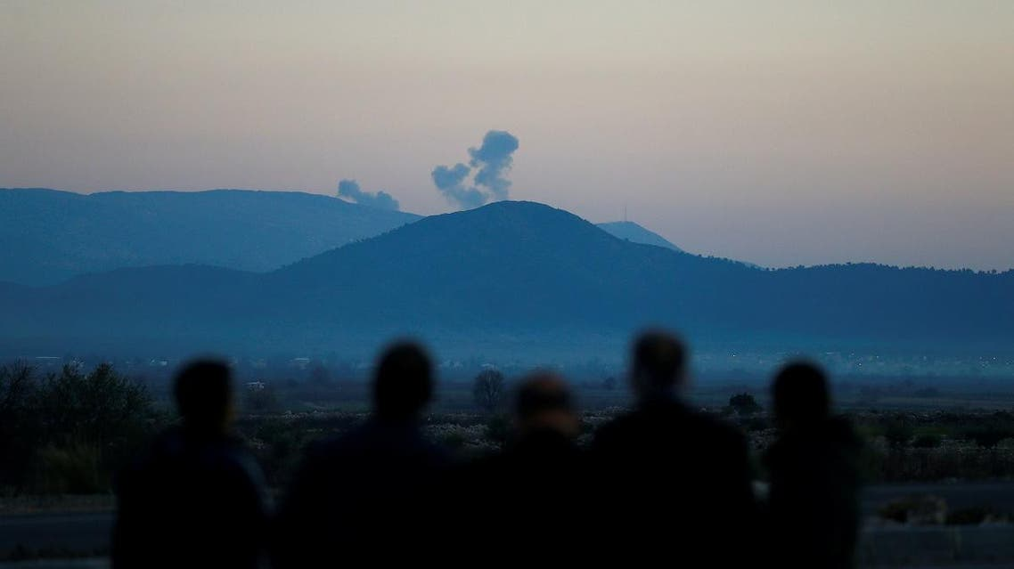 Smoke rises from the Syria's Afrin region, as it is pictured from near the Turkish town of Hassa, on the Turkish-Syrian border in Hatay province. (Reuters)