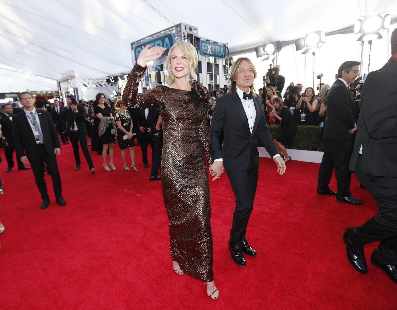 النجمة نيكول كيدمان تصل إلى الحفل برفقة زوجها كايث أوربن