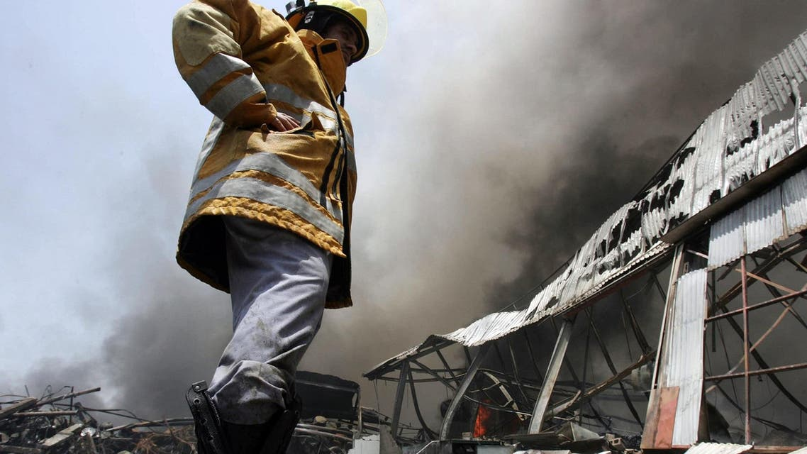 UAE fire fighter 2008 (AFP)