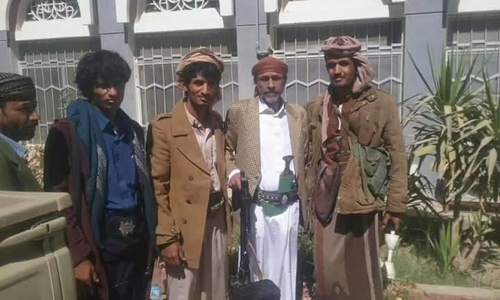 علي صالح الأحمر بعد وصوله إلى مأرب