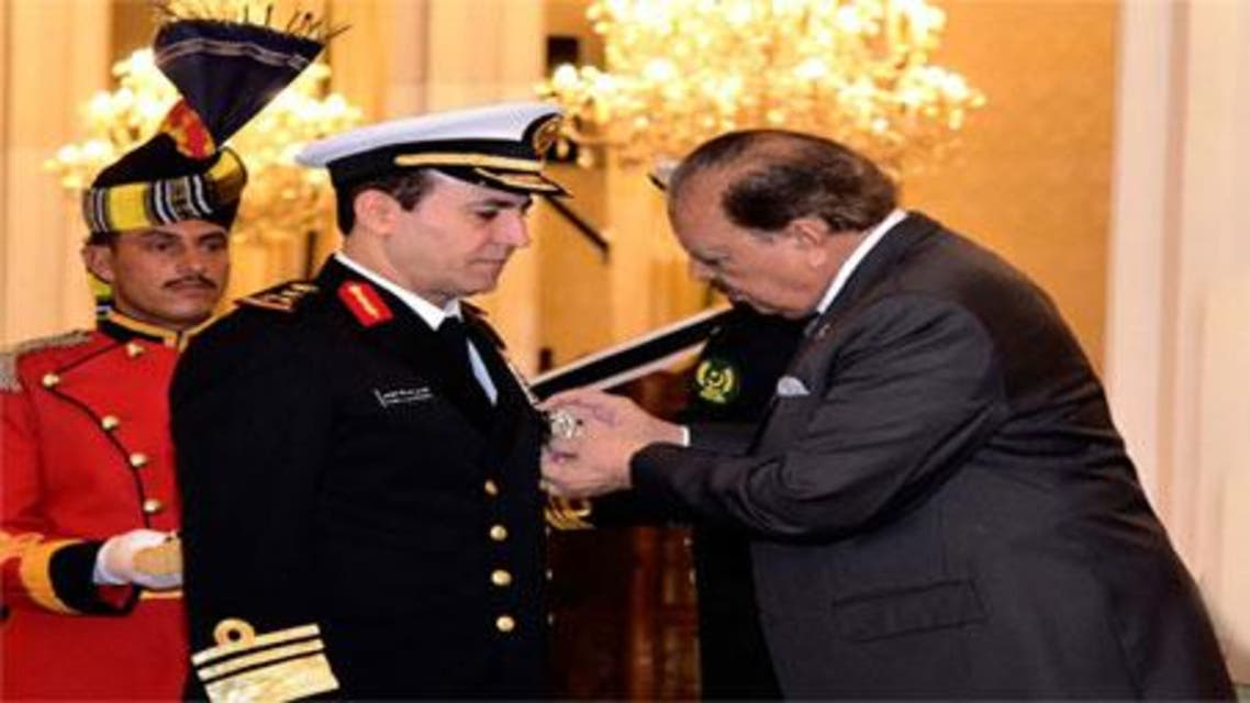 President Mamnoon Hussain has awarded Nishan-e-Imtiaz Military to the head of Saudi Royal Navy Vice Admiral Fahad Bin Abdullah Al-Ghofaili.