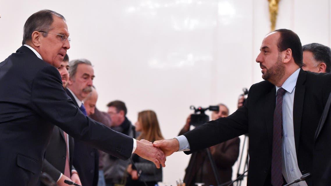 سيرغي لافروف و نصر الحريري - موسكو 3