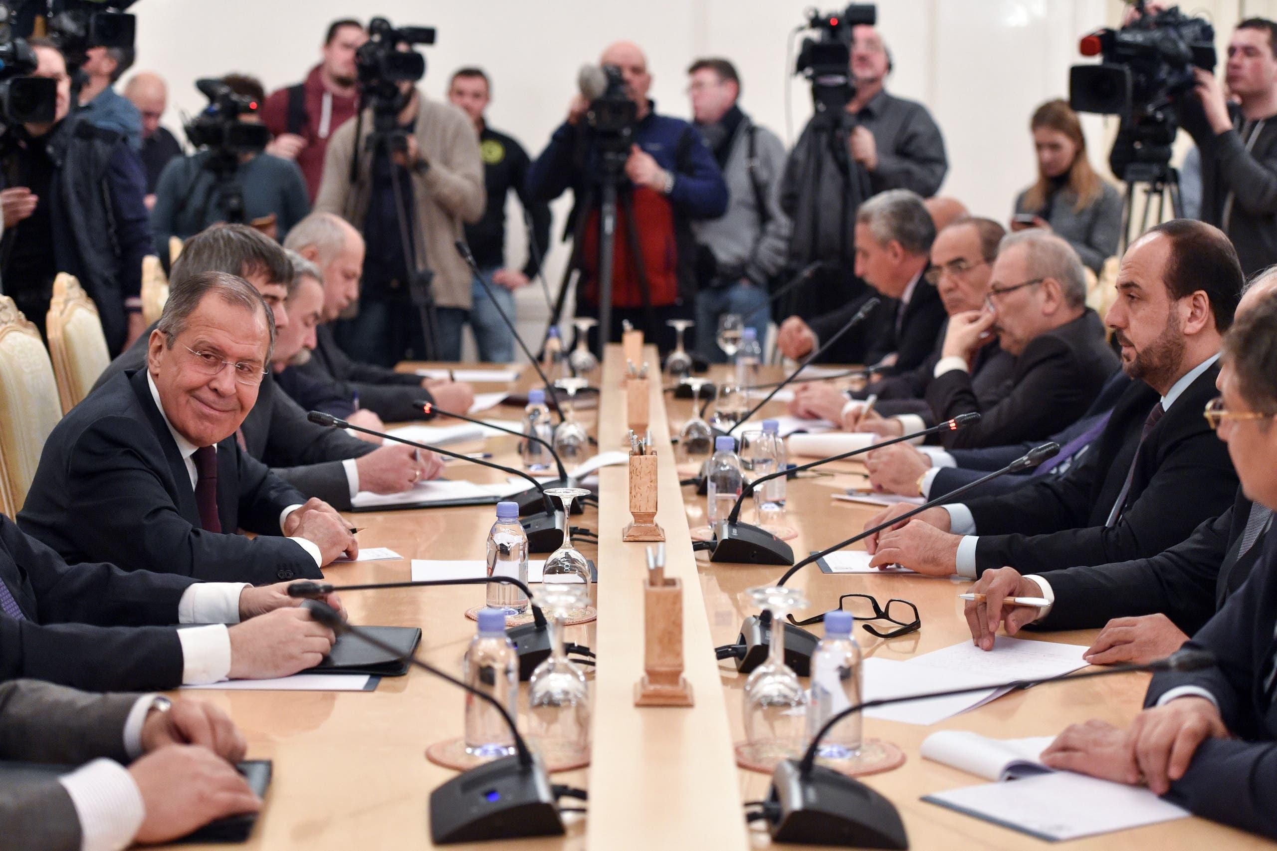 جانب من اجتماعات موسكو
